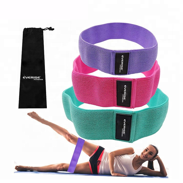 Workout Strength Cotton Elastic <strong>Fitness</strong> Exercise Large Pink Fabric Hip Circle Resistance Band