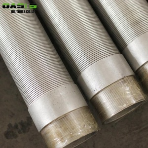 316/304 Stainless Steel Continuous Slot Water Well Filter Mesh Screen Pipe