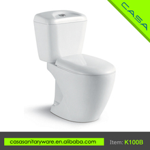 Modern design composite white ceramic two piece cyclone toilet