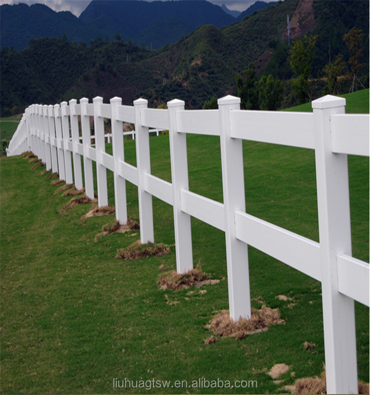 Free maintanence beautiful white pvc sheep and goat fence/farm fence