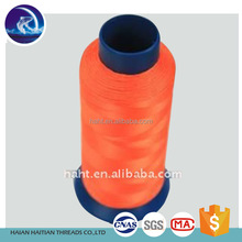 Factory wholesale high tenacity spun colour polyester sewing thread