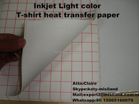 A4,A3 size 150gsm Inkjet Iron-on T-shirt Heat Transfer Paper for White cotton fabric