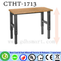 CTHT-1713 screw height adjustable table/ desk with PVC sealing finished table top adjustable height legs