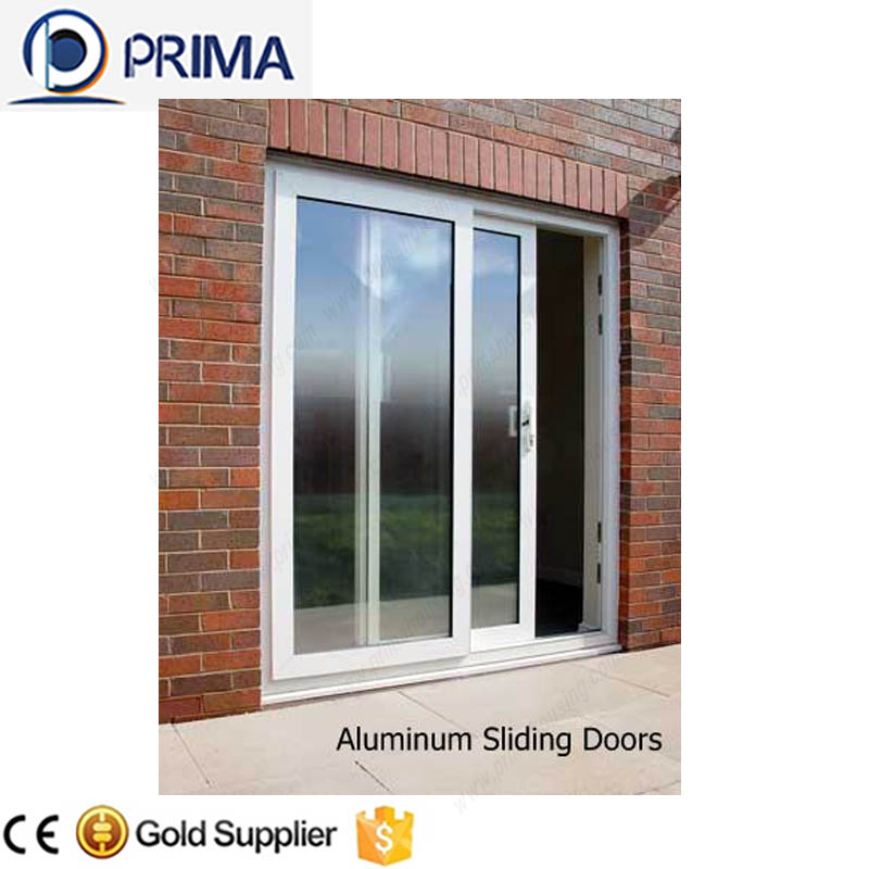 Horizontal aluminium double leaf glass panel garage door