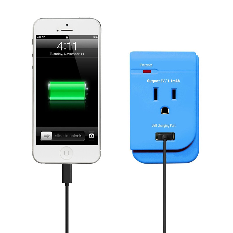American Standard ETL Mobile Wall Power Outlet with USB Port for Phones, Tablets, mp3 Player