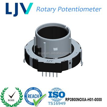 Dongguan LJV Hollow Shaft Industrial B10K Linear Stereo Volume Rotary Large LED Potentiometers