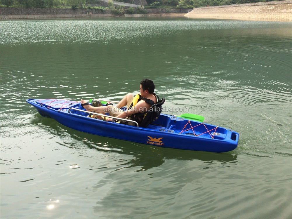Single pedal kayak sport fishing boat pedal drive boat for Pedal drive fishing kayak
