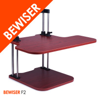 Height adjustable office table design mechanism sit-stand workstation (BEWISER F2)