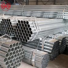 ASTM A500 GI pre galvanized round erw mild pipe sizes steel pipes weight