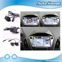 360 degree car side view security camera 4 channel car dvr bird view parking monitor system