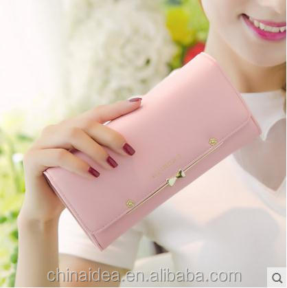 W-019 Yiwu IDEAS low price ladies pars hand ladies wallet The children of female long wallet