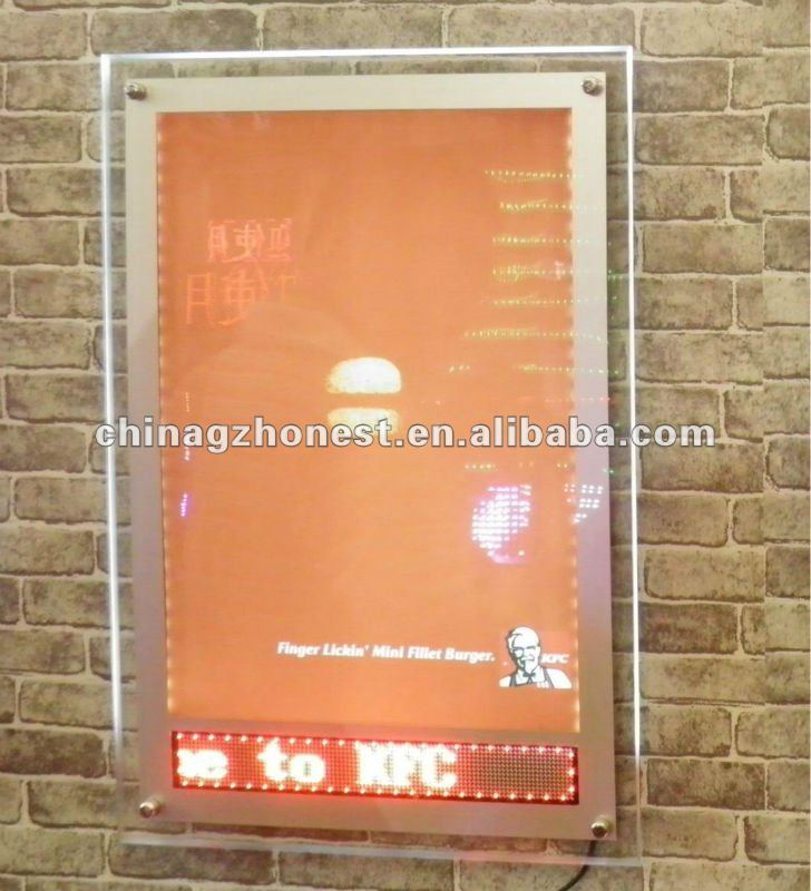 led crystal poster frame