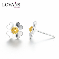 fashion stud earring 925 sterling silver indian gold jhumka earring SEH031WY