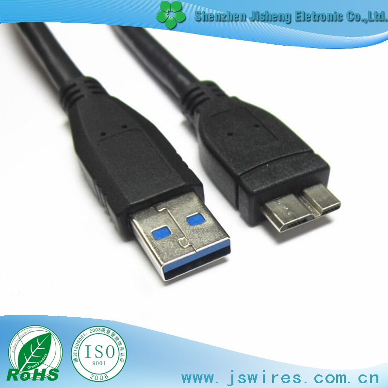 Micro 3.0 B Male to USB 3.0 A Male Cable Black, White,Blue High speed Data Charger cable