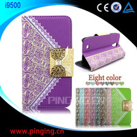 Hot Sale Wholesale ! Fashion Lady Wallet Magnet Flip Cover for Samsung Galaxy S4 I9500