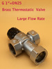 "Brass 1"" DN25 solar heater temperature controller thermostatic mixing valve"