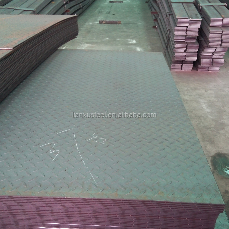 Manufacture Q235B Q345B MS standard Checkered Steel plate size supplier