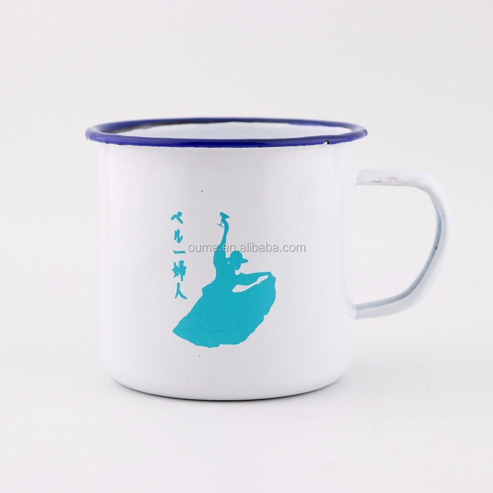 Wholesale Hot Custom Logo Printed Enamel Mugs