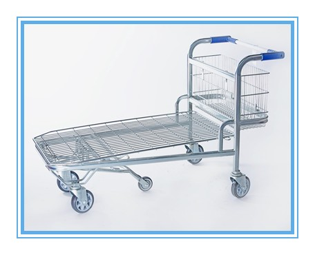 Newly popular plastic shopping trolley cart with baby seat