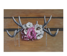 Painting Hotel Decorative Wall Art Floral Antler