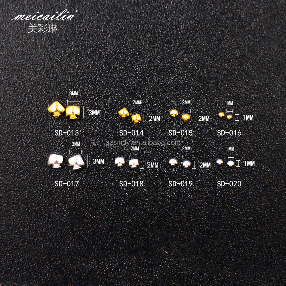 Competitive Price!Lastest Product Nail Studs 100Pcs Solid Metal With 3d Nail Sticker Nail Art Decorations