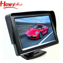 wholesale price 5 inch car tft lcd tv monitor with 2AV Input