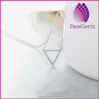 New arrival fashion design high quality triangle 925 sterling silver pendant