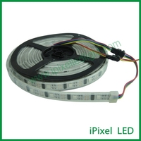 rgb led strip 5050 white pcb, ws2801 32leds led strip