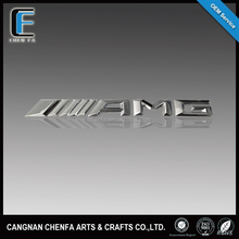 Custom new style abs plastic chrome amg emblem 3d car brand logo