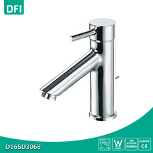 Chromed brass one hole one handle modern basin tap