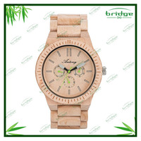 new arrival original design natural color pure time wholesale wood custom brand watch men watch 2015