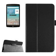 OEM Service Litchi Texture Leather Flip Cover for LG G Pad F 8.0 Case