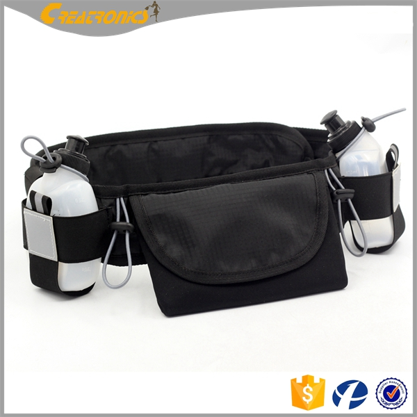 Elastic Waterproof Cycling Sport Belt Smartphone Pouch & Reflective Safety Tape Running Waist Pack