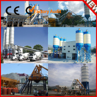 Easy operation HZS120 elba belt conveyor concrete batching plant