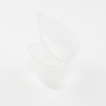 Wholesale 1.5 oz small cup clear unique plastic cake container