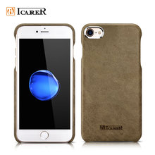 ICARER Customized Transformer Genuine Leather Back Cover Phone Case for iPhone 7