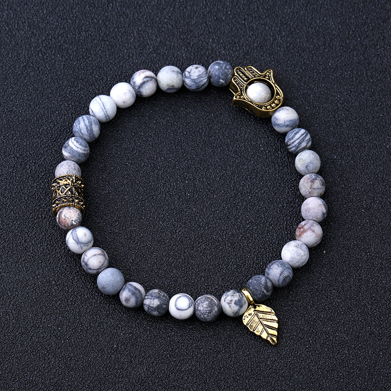 7.5inch druzy natural stone stretch bracelets