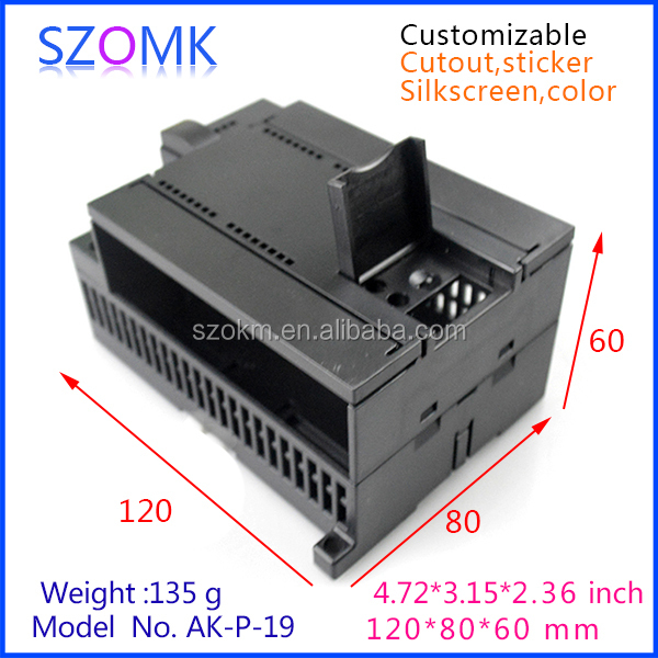 box enclosure electronic small plastic din rail enclosure