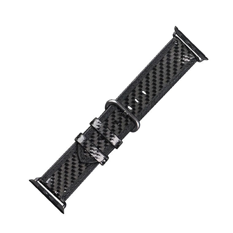 Top Quality for Apple Carbon Fiber Leather Straps Custom Smart Watch Band 2016 Hard Waterproof Watch Straps