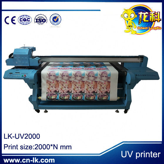 Chinese factory roll to roll uv printer for advertisement company