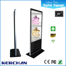 2016 hot 46 inch floor standing led display indoor advertising video screen, wifi lcd free standing advertising board