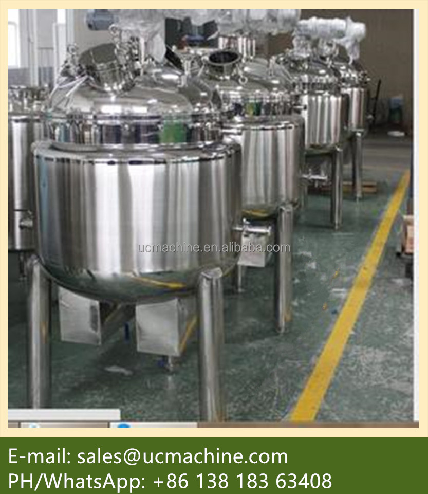 steam jacket tank stainless steel stirring tank