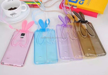 Smart Bunny case soft cover with stand for Samsung Galaxy Note 4 N9100