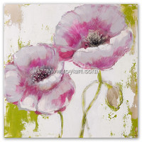 pictures to paint on canvas of Handmade Modern Abstract Flower Oil Painting