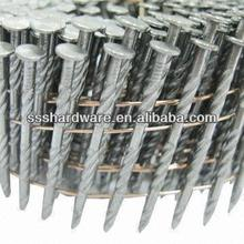 Industry and General Use Steel Screw Shank Coil Nails