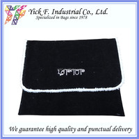 Simple Black Polyester Velvet 11 inch Laptop bag / laptop sleeve
