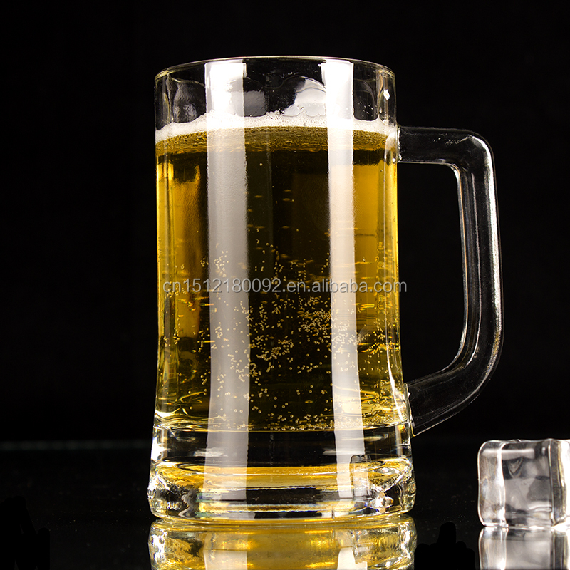 Yard beer glass/ Aliisar Wholesale Heavy Base clear Mug Glass Beer