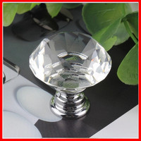 Modern Fashion Clear Crystal Class Cabinet Pull Drawer Handles Kitchen Door Knobs Furniture Hardware