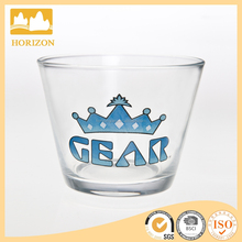 Blown Decal Designs Crystal Glass Dessert Cereal Bowl