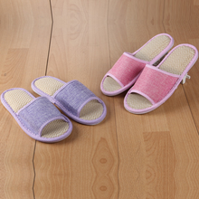 Summer/spring Flax/Linen Slippers Women Men Home Shoes Pantuflas Pantofole Couple Slipper Soft Floor Pantufa
